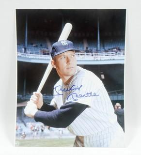 Autographed 8 x 10 Photo of Mickey Mantle