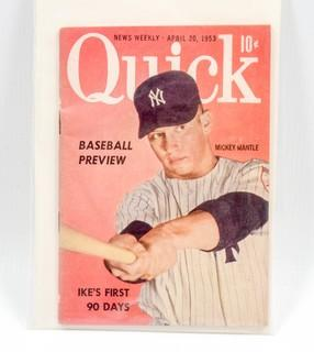 Quick Magazine Featuring Mickey Mantle