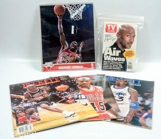 8 x 10 Michael Jordan Glossy Photo, Back Issues of Beckett Baseball Monthly TV Guide Featuring Michael Jordan