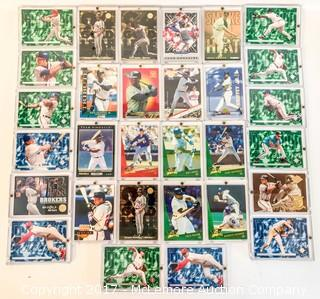 Assortment of 30 Baseball Cards in Cases