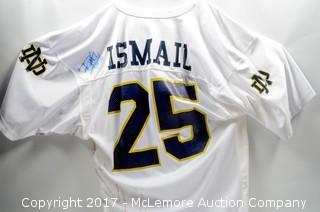 Notre Dame Football Jersey Autographed by Raghib Ismail