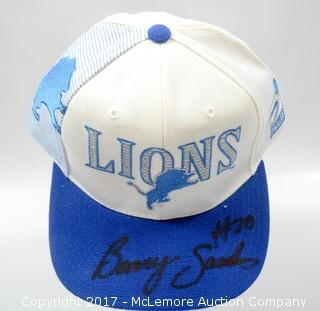 Detroit Lions Hat Signed by Barry Sanders
