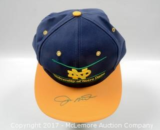 Notre Dame Hat Signed by Joe Montana