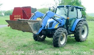 2012 New Holland T5060 4x4 Cab Tractor with 825TL Quick Attach Loader