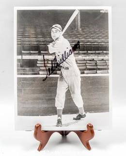 8 x 10 Autographed Photo of Ted Williams