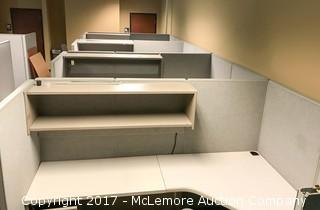 Four Cubicles with Desks, Drawers and Chairs