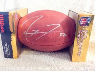 Ray Lewis Autographed Official Salute to Service NFL Game Ball
