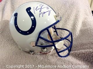 Peyton Manning Autographed Authentic Full Size Indianapolis Colts Helmet
