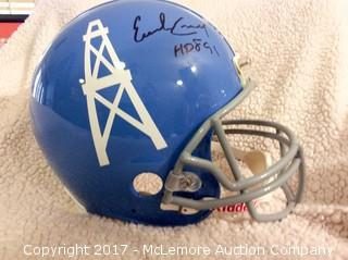 Earl Campbell Autographed Authentic Full Size Houston Oilers Helmet