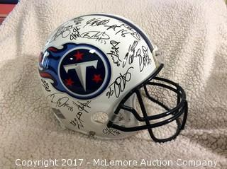 2010 Tennessee Titans Team Autographed Authentic Full Size Helmet