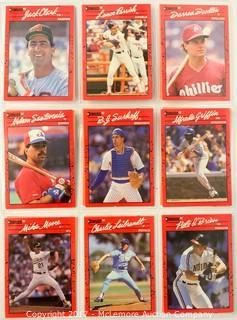Assortment of DonRuss Baseball Cards