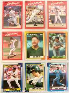 Assortment of DonRuss and Topps Baseball Cards