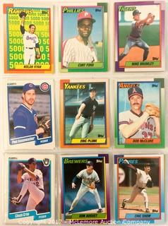 Assortment of Topps and Fleer Baseball Cards