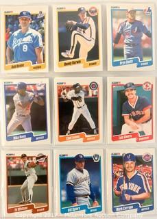 Assortment of Fleer Baseball Cards