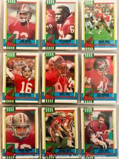 Collection of 1990 Topps Football Cards, 528 in All