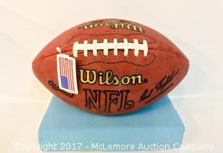 Football Signed by Brett Favre