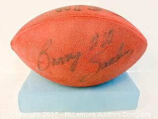 Football Signed by Barry Sanders