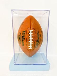 Football Signed by Joe Montana
