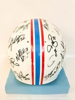 Tennessee Oilers Helmet, Signed by Members of the 1997 Team