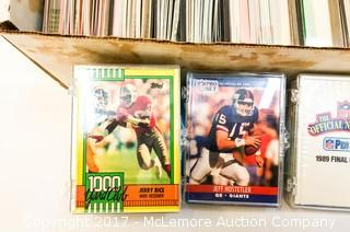 Assortment of ~1989-1990 Pro Set, Topps and Score Football Cards