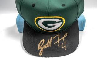 Green Bay Packers Hat Signed by Brett Favre