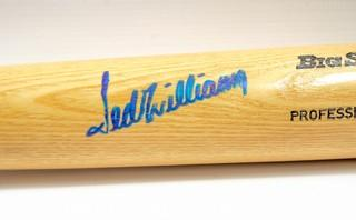 Rawlings Baseball Bat Signed by Ted Williams