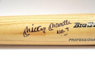 Rawlings Baseball Bat Signed by Mickey Mantle