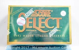 1993 Score Select Premiere Baseball Cards, New and Factory-Sealed in Box