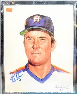 Plaque with Print Signed by Nolan Ryan, New in Wrapper