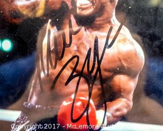 Plaque with Photograph Signed by Mike Tyson, New in Wrapper