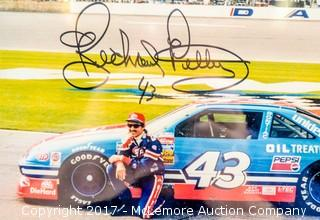 Plaque with Photograph Signed by Richard Petty, New in Wrapper