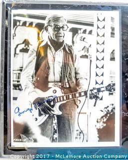 Plaque with Photograph Signed by George Burns, New in Wrapper