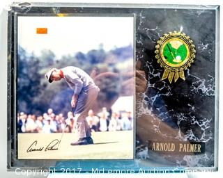 Plaque with Photograph Signed by Arnold Palmer, New in Wrapper