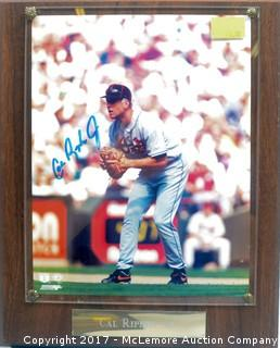 Plaque with Photograph Signed by Cal Ripken, Jr.