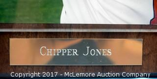 Plaque with Photograph Signed by Chipper Jones
