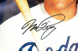 Plaque with Photograph Signed by Mike Piazza