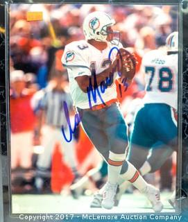 Plaque with Photograph Signed by Dan Marino, New in Wrapper