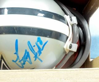 Unused Lil' Riddell Dallas Cowboys Mini Helmet Signed by Troy Aikman
