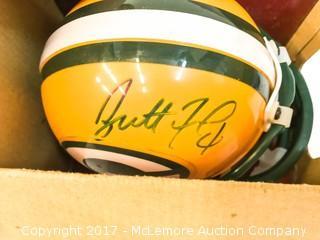 Unused Lil' Riddell Green Bay Packers Mini Helmet Signed by Brett Favre