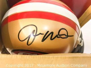Unused Lil' Riddell San Francisco 49ers Mini Helmet Signed by Joe Montana