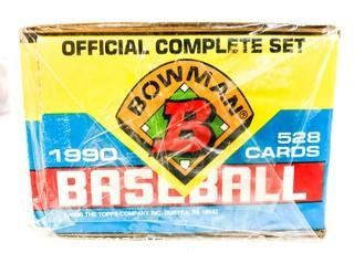1990 Bowman and Fleer Baseball Cards, New in Wrapped Boxes