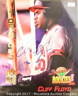 Box of Signature Rookies Football and Baseball Photo Cards