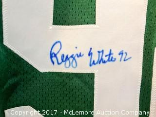 Unused Wilson Pro Line Green Bay Packers Jersey Signed by Reggie White