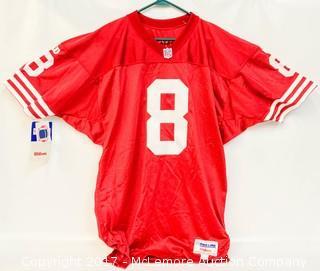 Unused Wilson Pro Line San Francisco 49ers Jersey Signed by Steve Young