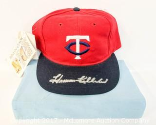 Retro Minnesota Twins Hat Signed by Harmon Killebrew