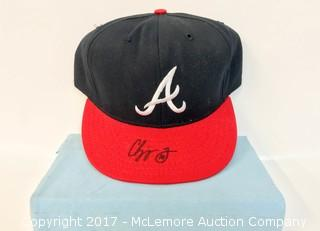 Atlanta Braves Hat Signed by Chipper Jones
