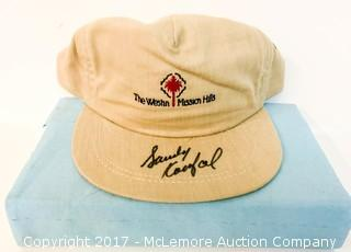 Hat Signed by Sandy Koufax