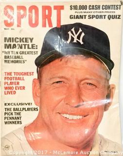 Vintage Sports Magazine Featuring Mickey Mantle