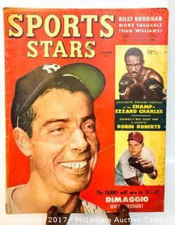 Vintage Sports Stars Magazine Featuring Joe DiMaggio