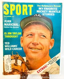 Vintage Sport Magazine Featuring Mickey Mantle